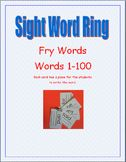 Fry Sight Word Rings--Words 1-100