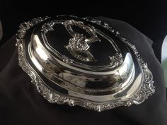 Wallace BAROQUE Silverplate 13 1/2 Oval Covered Vegetable w/ Lid 287 Priced at $69.95