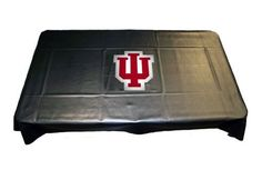 """Indiana University Hoosiers Pool Table Cover by Sports Fan Products. $126.65. Protect your pool tables green felt with an Indiana University black vinyl billiard table cover. Thanks to its """"universal fit"""" design, the IU pool table cover adjusts snugly over the top of standard 7ft, 8ft, and 9ft billiard tables. Heavy-grade vinyl with soft backing repels dust, dirt, and unexpected spills. Your Indiana logo is screen-printed to bring out your Hoosier colors th..."""