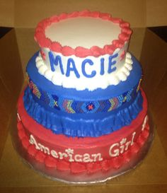 American Girl - Saige Birthday Cake  This is incredible!