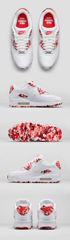 A taste of London. The Nike Air Max 90 City collection features shoes inspired by food and beverage from New York, Paris, Tokyo, London, Shanghai and Milan. Get your favorite combo.: