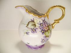 JUDE PEZANETTI Vintage SIGNED ITALIAN Beautiful Flowered HAND PAINTED Pitcher picclick.com