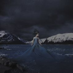born of wind from snowy mountains by Brooke Shaden