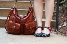 JoTotes Camera Bag, Floral Print Mary Jane Heels. #jototes #floral #purse