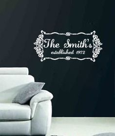 Vinyl Wall Art Flourished Name by Remarkable Walls on Etsy, $20.00 (I'm in love with this one!)