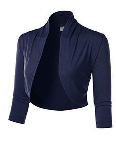 YoungSoul Womens Shrugs Long Sleeve Lightweight Ruffle Open Front Cropped Bolero Cardigan