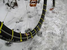 Make snow tires for your bike with zip ties! | Inhabitat - Sustainable Design Innovation, Eco Architecture, Green Building