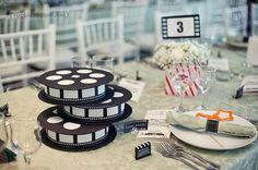 Casamento temático: Cinema http://www.blogdocasamento.com.br/cerimonia-festa-casamento/decoracao-festa-igreja/casamento-tematico-cinema/