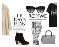 """""""Romwe T- shirt"""" by nekyaboo on Polyvore featuring Nly Shoes, MICHAEL Michael Kors, Elizabeth and James and Warehouse"""