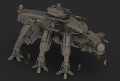 Taurine Siege Mech Brown by Quesocito