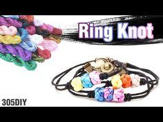 [305DIY]오리엔탈 가락지 매듭팔찌만들기,friendship oriental ring knot bracelets DIY tut...