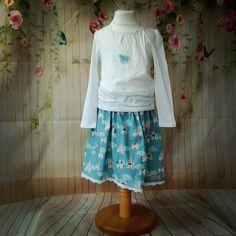 Blue castle skirt