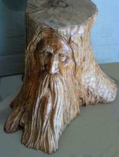 STUMP CARVING before painting....by Greg Hand