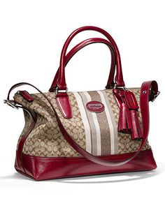 COACH LEGACY SIGNATURE STRIPE MOLLY SATCHEL - COACH - Handbags & Accessories - Macy's