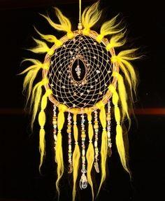 Ловец снов (d=20, дл.42 см, кварц рутил., кварц горный хрусталь) №3287 (СВОБОДЕН!)