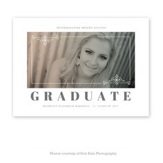 Reef Point Senior Grad Card - Graduation Announcement card template available through Jen Boutet Photography with your senior portrait session in Charlottesville, Va.