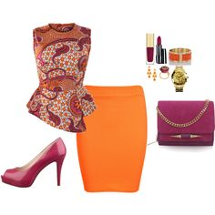 A fashion look from June 2014 featuring red top, mini skirt and nine west pumps. Browse and shop related looks.