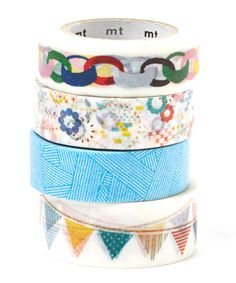 Add pizzazz to presents and DIY projects with this adhesive washi tape, which comes in different prints and hues for four fun options. Includes four rollsEach roll: paper / adhesiveImported Washi Tape Crafts, Paper Crafts, Diy Crafts, Washi Tapes, Duct Tape, Masking Tape, Decorative Tape, Fabric Tape, Do It Yourself Projects
