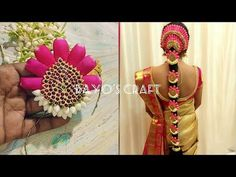 Poolajada Making Series: How to make fresh Flower Rose petal poolajada Hair Decorations, Indian Wedding Decorations, Festival Decorations, South Indian Hairstyle, Indian Wedding Hairstyles, Art Floral, Floral Design, Bridal Hair Flowers, Wedding Flowers