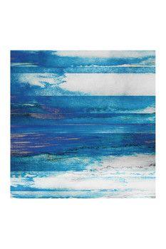 Parvez Taj Blue Painted Ocean Canvas Wall Art
