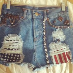 awesome shorts, different fabric diy shorts