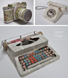 Made out of recycled paper, so beautiful. Love them. Wish I was this talented...
