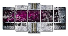 Xl05_Cuadro Abstracto 04 Fucsia