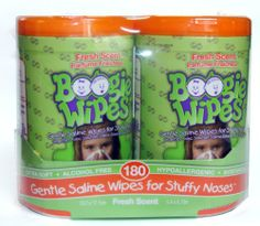Boogie Wipes Fresh Scent Gentle Saline Wipes for Stuffy Noses 2pk by Boogie Wipes, http://www.amazon.com/dp/B007JWX3PQ/ref=cm_sw_r_pi_dp_o78psb00VCEBB