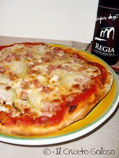 Pizza bassa e fragrante bimby