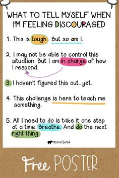 Social Skills 101471797842805683 - Free Growth Mindset, Social Emotional Learning, CBT Coping Statements Poster Source by rosiessuperstars Coping Skills, Social Skills, Self Efficacy, Feeling Discouraged, Positive Self Talk, Positive Mindset, Positive Psychology, Positive Thoughts, Social Emotional Learning