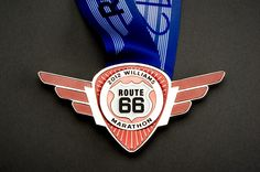The 2012 Williams Route 66 Marathon Finisher Medal.   It will be mine Nov. 18!!  www.route66marathon.com