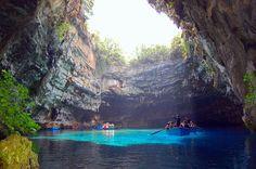 Underground lake in the Greek Islands