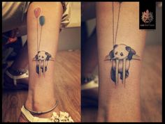 This is adorable baby panda tattoo by