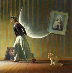 """""""Leaving it all behind"""" by Irish painter and illustrator Jimmy Lawlor"""