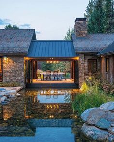 Designed by JLF Architects, this mountain retreat located in Wilson, Wyoming seamlessly blends contemporary with rustic style.