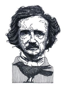 Edgar Allen Poe Painting....the master of suspense