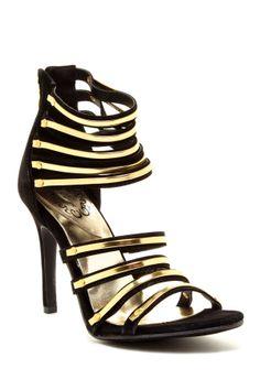 Multi-Strap High Heel Sandal