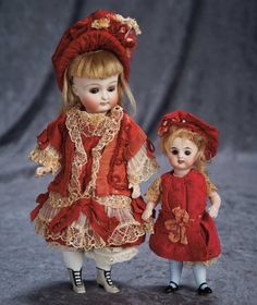 German All-Bisque Miniature Doll with Thigh-High Blue Stockings 500/700 Auctions Online | Proxibid