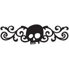 Silhouette Design Store: halloween skull flourish