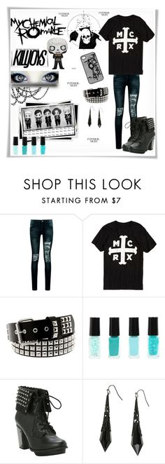 """MCR: Group Contest Entry"" by chemical-death ❤ liked on Polyvore featuring Boohoo, mcr and mychemicalromance"