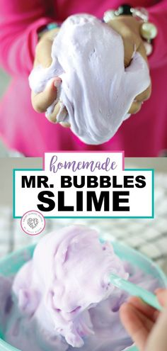 Kids love slime! They also love Mr. Bubbles. Combine the two and they will be so happy. This helpful tutorial will show you how to make Mr. Bubble Slime that smells good and is so much fun to play with. Have fun with your kids this summer and make Mr. Bubbles slime with them. #slime #mrbubbles #homemade #tutorial #diyslime #easy #smartschoolhouse
