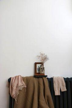 old radiator styled with woven fabrics / sfgirlbybay