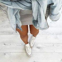 Converse & stripes.