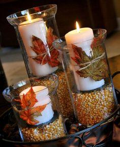 Krásna jesenná - sviečková dekorácia.