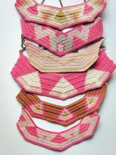 vestida de domingo shop: collares de ganchillo