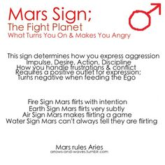 Astrology: Mars Sign | #astrology #zodiac #marssign