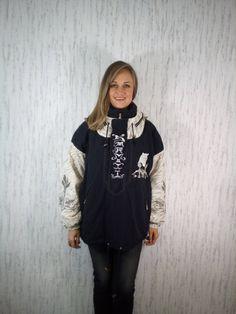 Vtg Bogner Ski Jacket Limited Edition Siegfried & Roy Black / Beige Hand Embroidered White Tigers M / L size by SweetSpicyVintage on Etsy Roy Black, Vintage Ski, White Tigers, Skiing, Overalls, Vintage Outfits, Beige, Sleeves, Model