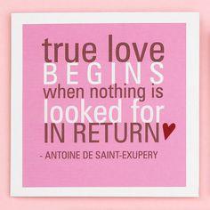 True Love Quote Card