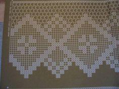 cortinas de croche barbante com graficos - Pesquisa Google