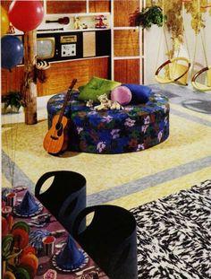 1960s party room interior design.